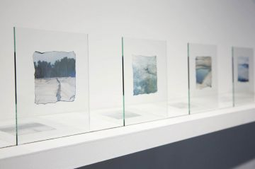 Instant Photographic Emulsion on Glass, Kristof Vrancken